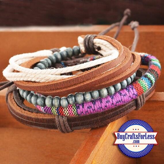 Leather STACKABLE BOHO Style Bracelets, Handmade +FREE ShiPPiNG*