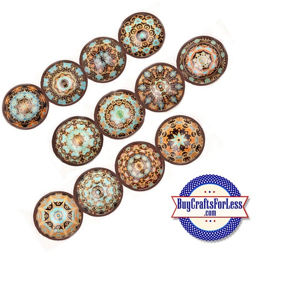 SNAP MANDALA Buttons, 4 pc assortments, 18mm INTERCHaNGABLE Buttons +FREE Shipping & Discounts