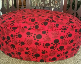 XL puppy foot print dog bed