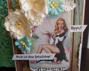 Geburtstagskarte  für Männer, Birthday, deutsch,