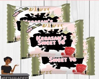 Paris Sour Patch Kids Label, Paris Baby Shower, Paris Birthday Party, Sweet 16 Birthday Party, Digital or Printed