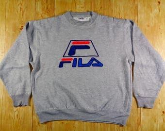20% OFF Vintage FILA  Biella Italia Baseketball Big Logo Sweatshirt Speelout Pullover