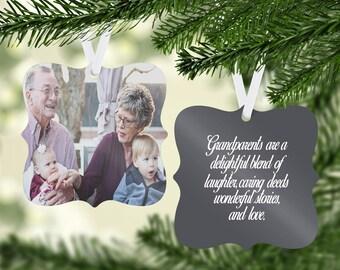 Photo Ornament | Grandparents Ornament | Family Ornament | Ornament with Saying | Special Ornament | Personalized Ornament | Keepsake