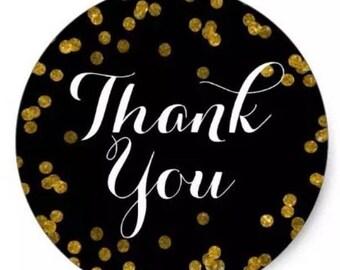 """24 PCS """"Thank You"""" sticker, Seals, Scrapbook Supplies, Stationary, Paper, Paper Stickers, Stickers, Paper Supplies"""