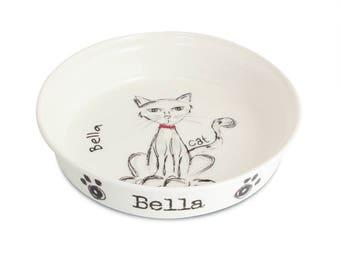Personalised Scribble Cat Bowl