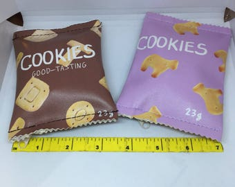 So Kawaii and cute from Japan Cookie Bag Snacks Coin Purse Mini Wallet Money Bag Change Pouch Key Holder Decoy
