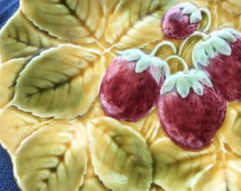 French Majolica Vintage Fruit Plate