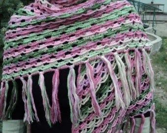 Knitted scarf, shawl warm, handmade, gift, for women, an exclusive, shawl scarf accessory Ukrainian original, acrylic mohair