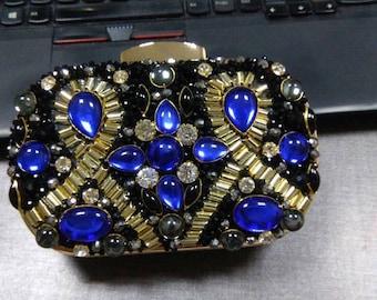 Blue clutch, Black clutch, Evening clutch, Womens clutch, Bridal clutch, Wedding clutch, Clutches, Party clutch, Clutch, Gold clutch