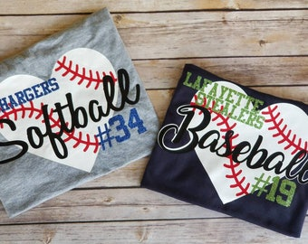 Baseball Mom shirt - Baseball fan shirt - Baseball dad shirt- Baseball heart shirt -  Baseball mom tshirt - I love baseball - baseball shirt