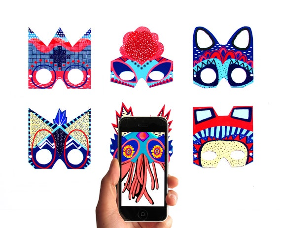 Moving Masks - 6 Animated augmented reality masks with the Free App Moving Cards