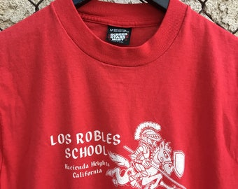 Vintage Los Robles School California Screen Stars Tee