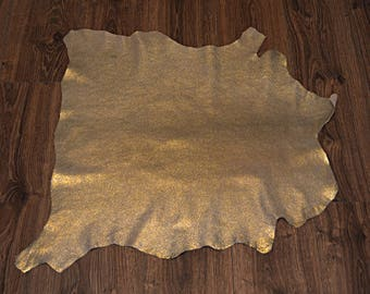 Gilded lamb leather skin with velvet finish (9079241)
