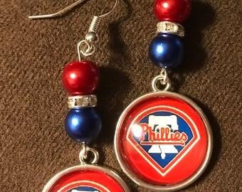 Philidelphia Phillies earrings with logo charm