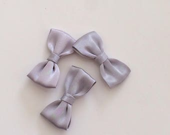 Gray bow tie colour 40 mm