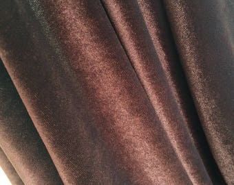 Fabric velvet very fluid and drooping Brown