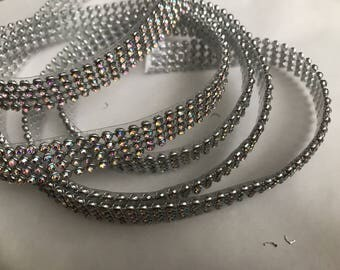 Rhinestones Crystal AB 13 mm wide