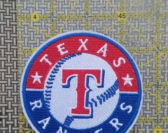 Texas Rangers iron on inspired embroidery patch