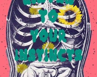 Anatomical Art Sticker~Listen to Your Instincts