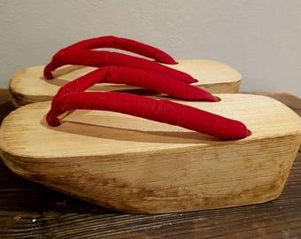 Used Kyoto Maiko Pokkuri/Okobo Clogs