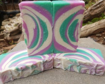 French cade and lavender cold process soap