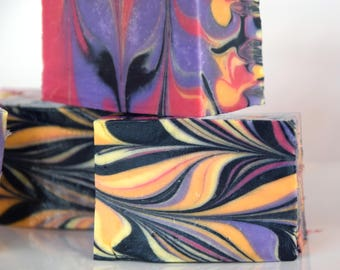 Tiger Stripe Soap - Cold Process Handmade Soap