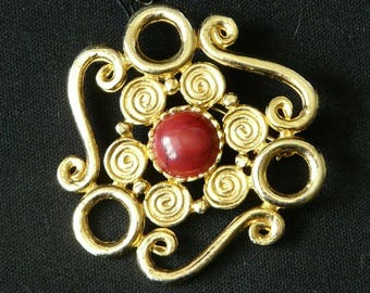Frank Usher Vintage Gold Brooch, Brand New With Tags, Unworn