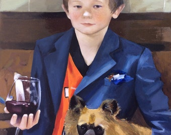Commission portrait, commission oil painting, child oil portrait, custom portrait from photo, custom oil painting on canvas