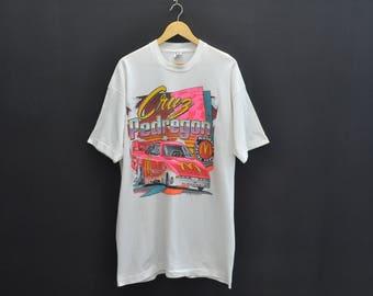 Cruz Pedregon Shirt Vintage 90's Cruz Pedregon Championship Winning Funny Car Drag Racing Made In USA Tee Shirt Size XXL