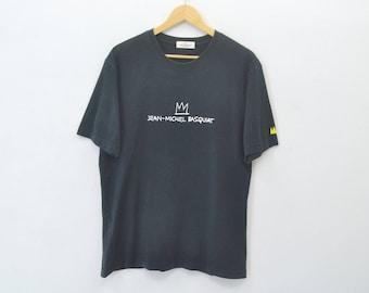 JEAN-MICHEL BASQUIAT Shirt Jean-Michel Basquiat Evil Thought ''Revenge'' Tee T Shirt Size L