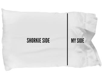 Shorkie Pillow Case - Shorkie Pillowcase - Shorkie Gifts - Shorkie Pillow Cover - Shorkie Dog Side My Side
