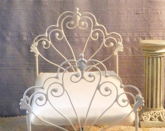 "Artisan Made Dollhouse Miniature Wrought Iron Look Bed ""BRYONNY"" 1:12 Scale Twin and Full"