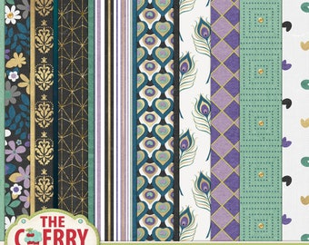 Pretty As A Peacock Digital Scrapbooking Papers