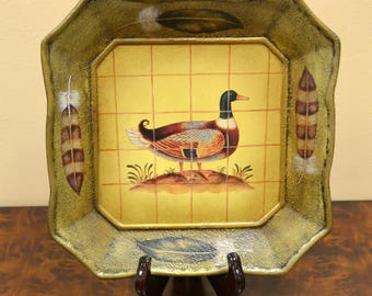 Painted Duck Plate