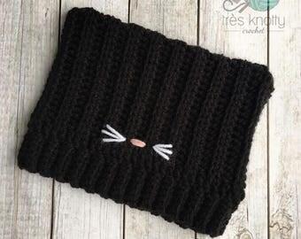Black kitty hat, black cat hat,cat ears hat, kitty hat