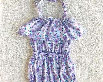 Floral Romper- Baby Girl Romper-Cute Romper- Baby Outfit- Beach Baby Romper- Cute Baby girl Romper- Baby Outfit- Summer Outfit