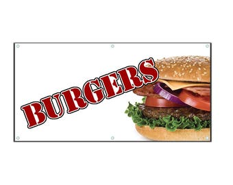 Burger Vinyl Banner