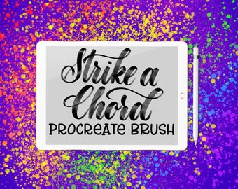 Strike a Chord lettering brush for Procreate