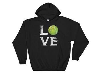 Love Tennis Hooded Sweatshirt