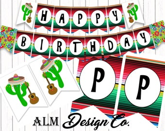 Fiesta Birthday Banner - Fiesta Birthday - Fiesta DIGITAL Banner - Fiesta Birthday Decorations