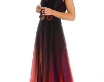 Long prom dress.