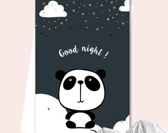 Affiche A3 Petit Panda - Good night !