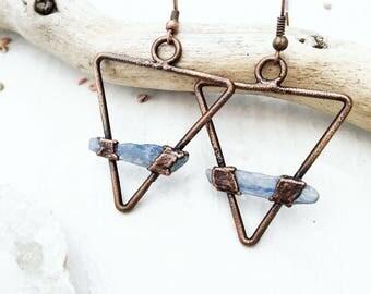 Blue Kyanite 'Earth' earrings