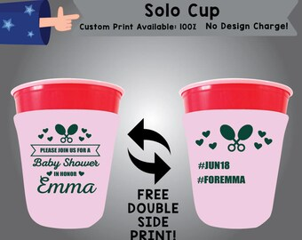 Please Join Us For A Baby Shower In Honor SOLOC Solo Cup Cooler Double Side Print (SSOLO-BS1)
