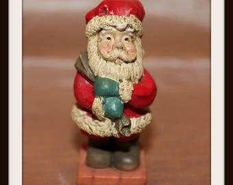 Miniature Vintage Resin Santa Claus Figurine, Miniature Saint Nick, Father Christmas, Kris Kringle, Saint Nicholas, Christmas Decoration