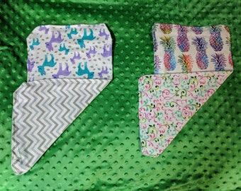 Handmade Burp Cloth Sets