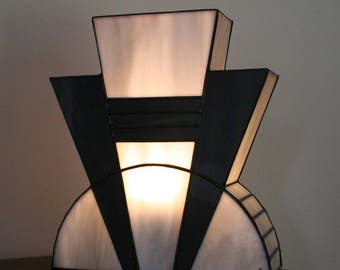 """Lamp Art Deco stained glass Tiffany """"Mineral"""""""