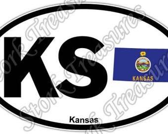 Kansas Sticker State Etsy - Custom vinyl decals wichita ks