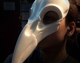 Raven (crow) skull mask, halloween mask, masquerade,  dress up in bird, costume bird, cosplay