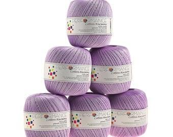 6 x 100g thread cotton Harmony #382 Lilac